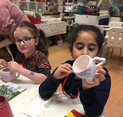 Pottery painting fun March 2018